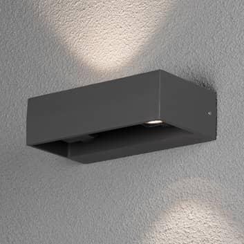 Monza utendørs LED-vegglampe antrasitt