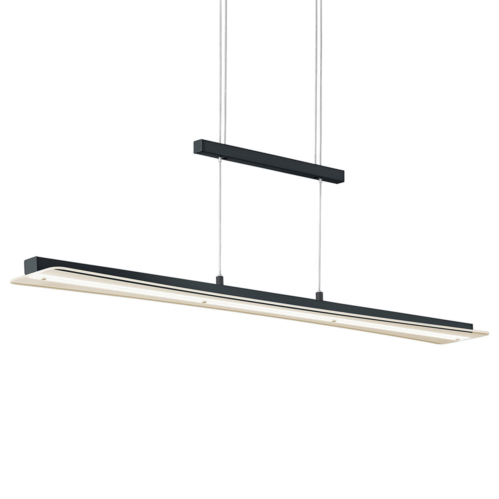 LED-Hängeleuchte Smash mit CCT-Funktion, schwarz