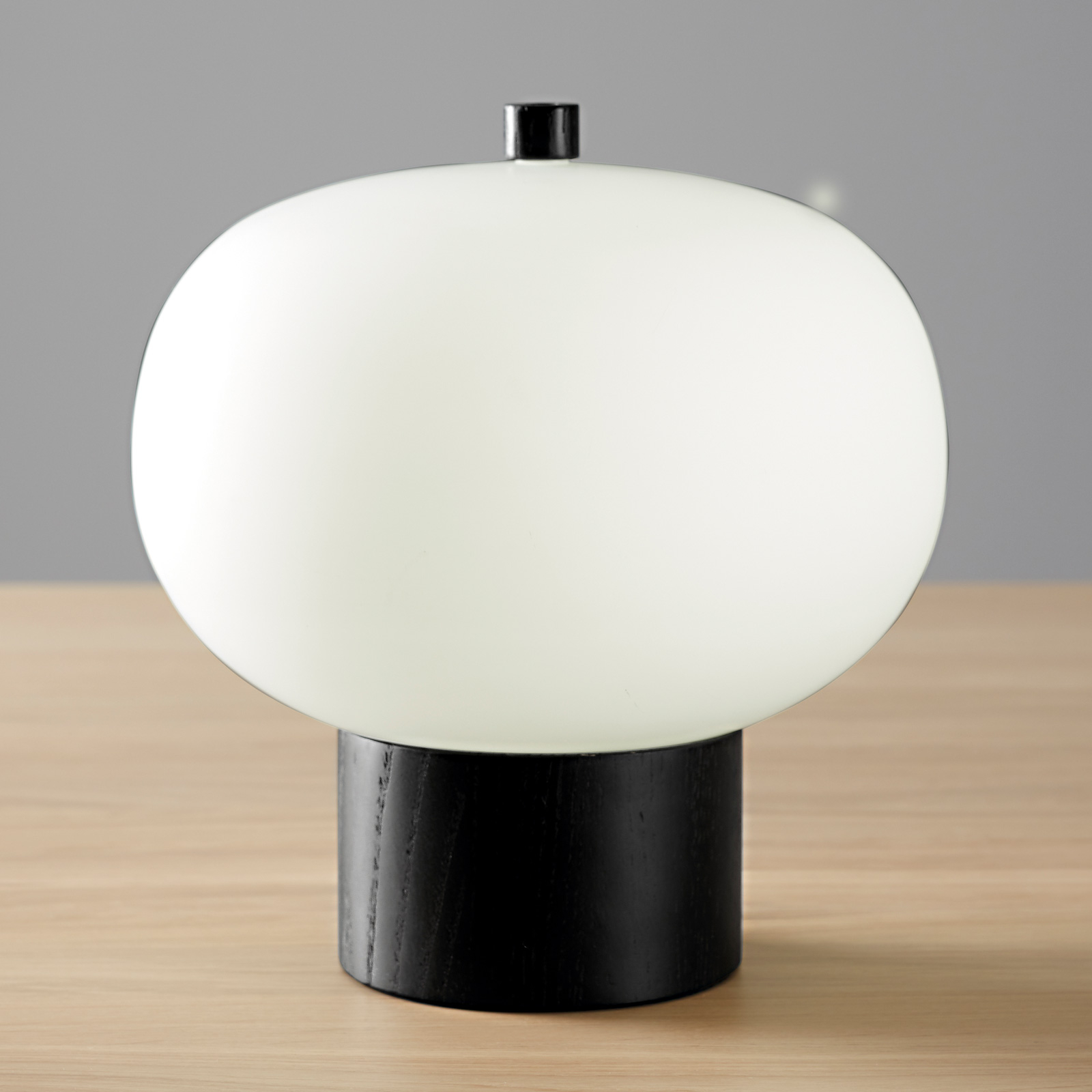 Grok iLargi lampa stołowa LED, Ø24cm ciemny jesion
