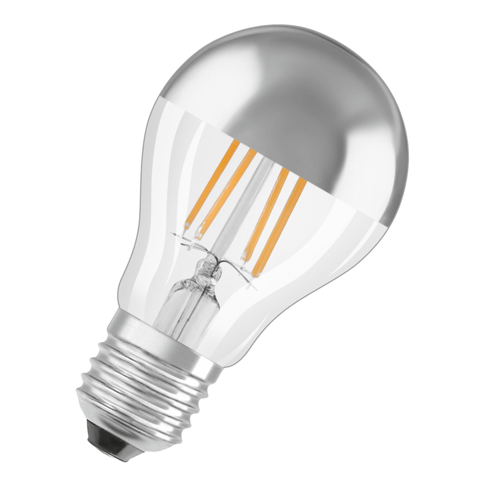 OSRAM LED-Lampe E27 6,5W Mirror silver 2.700K
