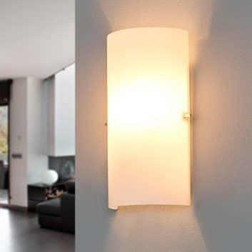 Halfronde glazen wandlamp Sidra