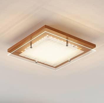 Holz-LED-Deckenleuchte Cattleya, 32 cm