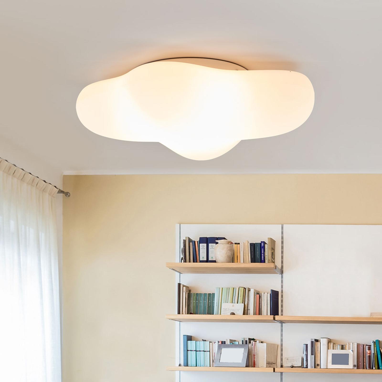 Plafondlamp Eos in de vorm van een wolk, 50 cm