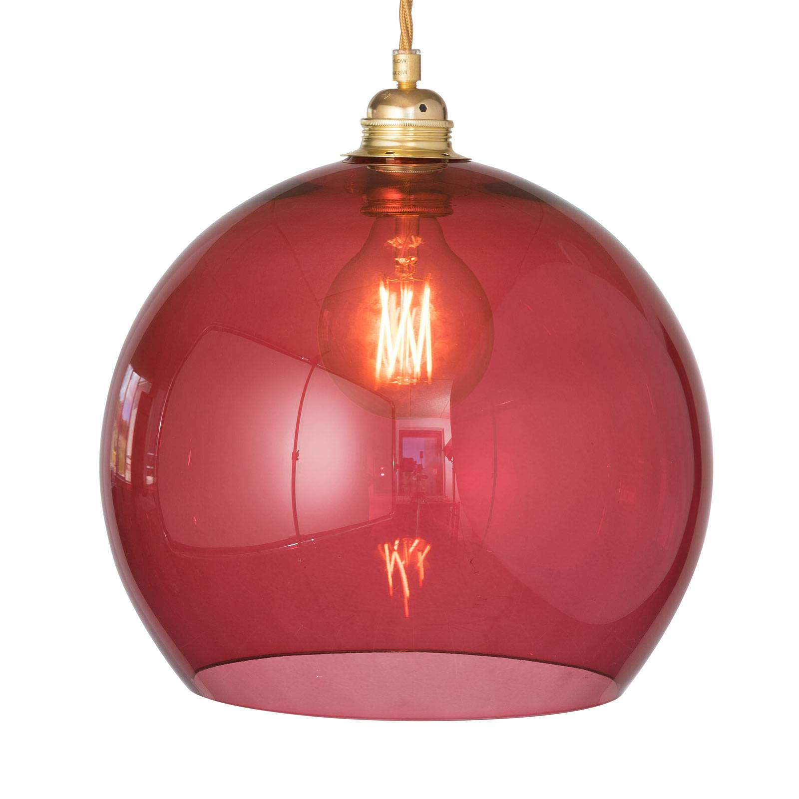 EBB & FLOW Rowan hanglamp goud/rood Ø 28cm