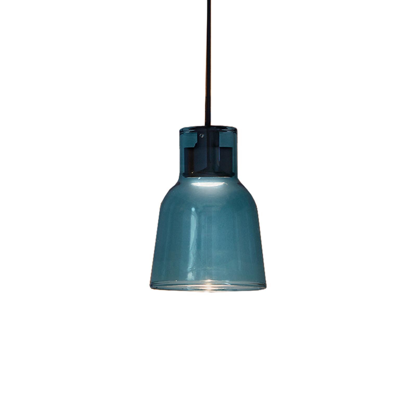 Bover Drip S/01L LED hanglamp van glas, blauw