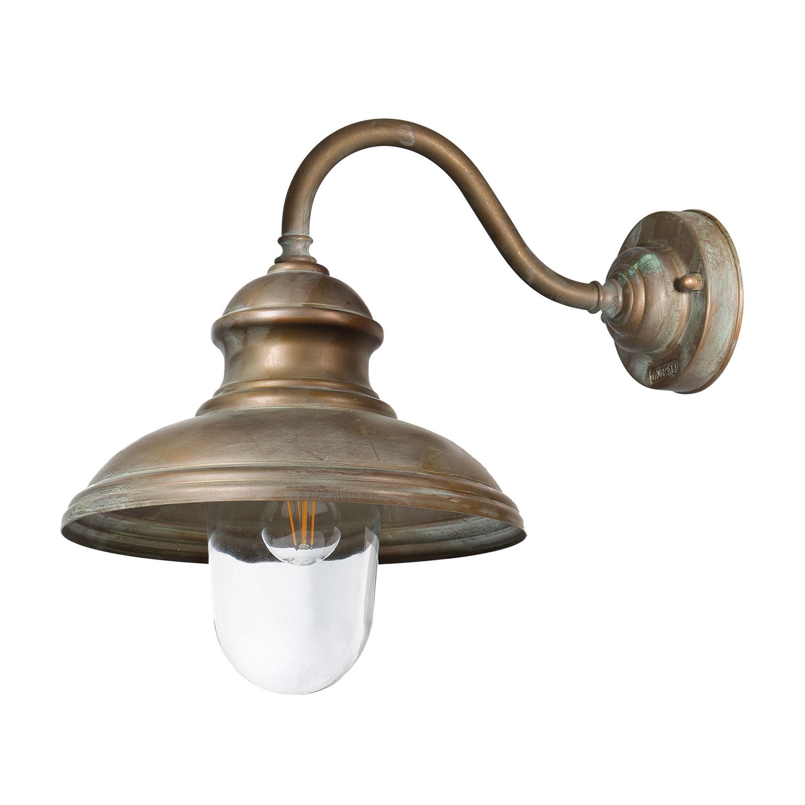 Außenwandlampe Little Mill 3351 messing antik/klar