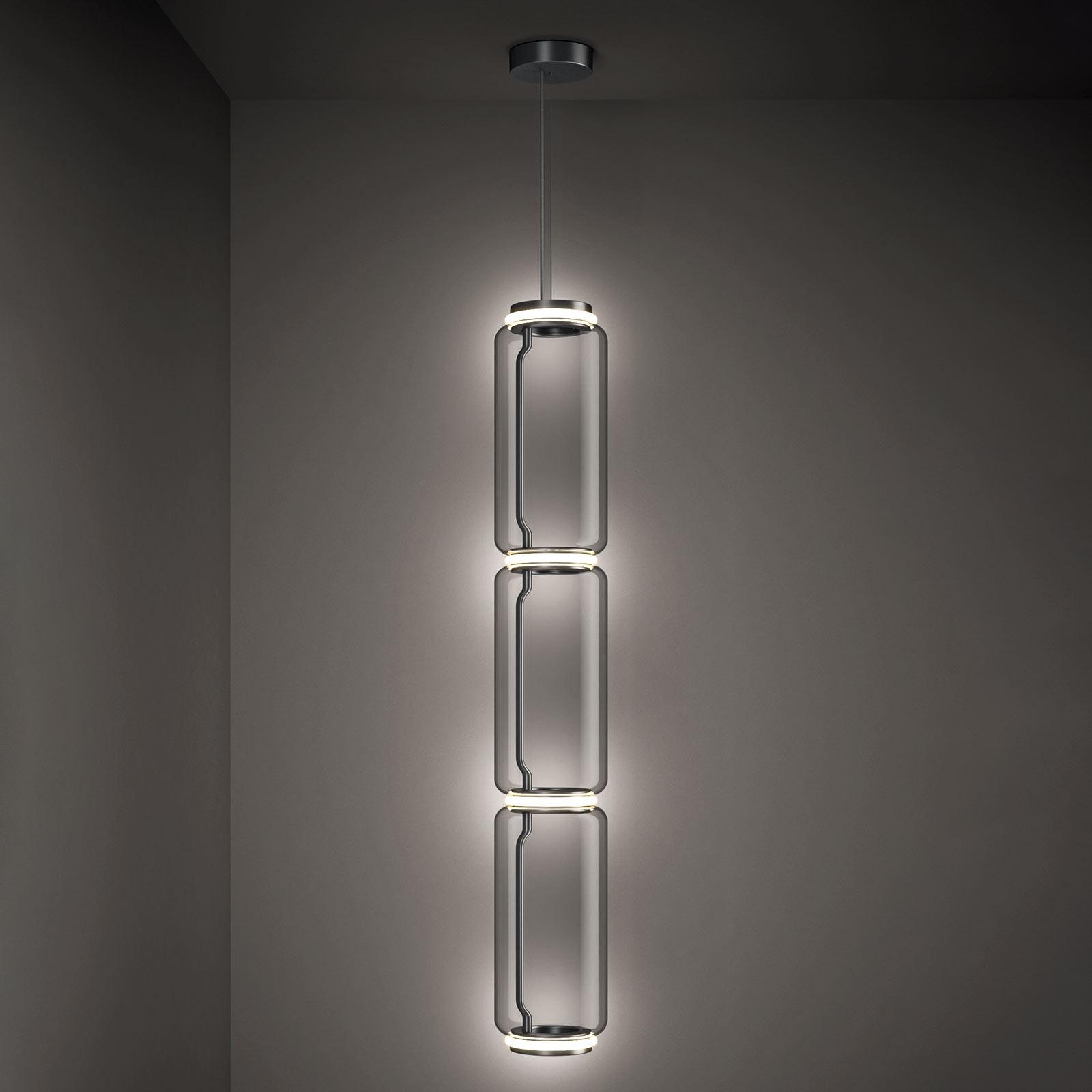 FLOS Noctambule -LED-riippuvalo 3 High Cylinders