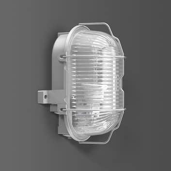 RZB Alu-Standard vegglampe E27, oval, IP44
