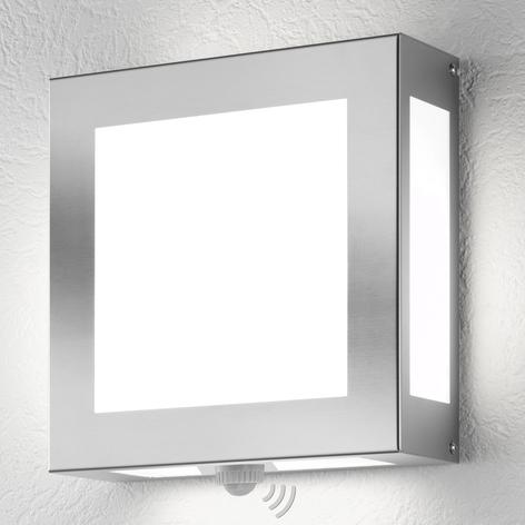 Außenwandlampe Legendo, Edelstahl mit Sensor