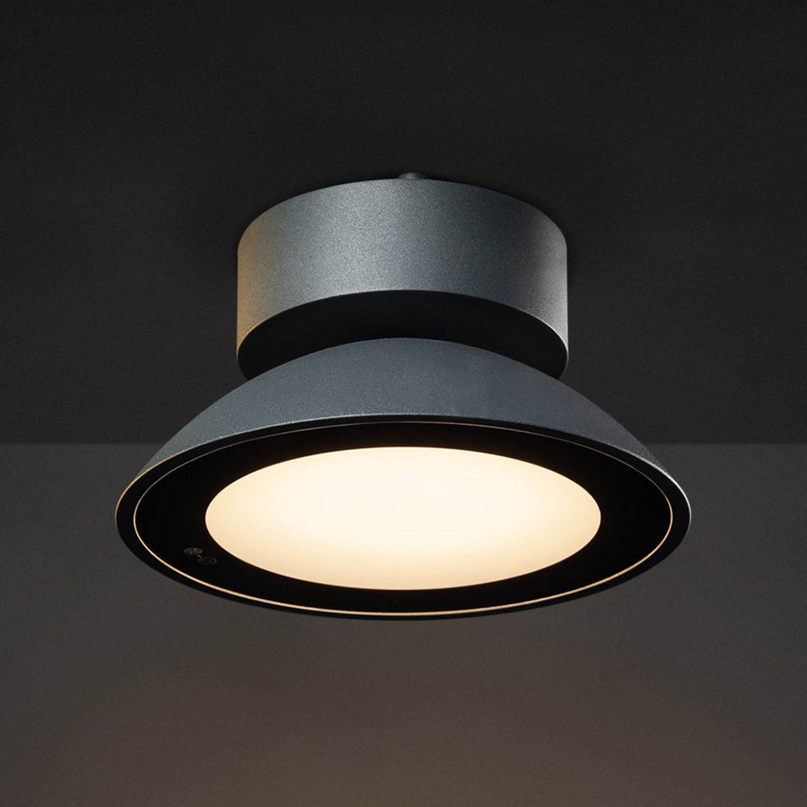SLV Malu plafonnier d'ext. LED, rond, anthracite