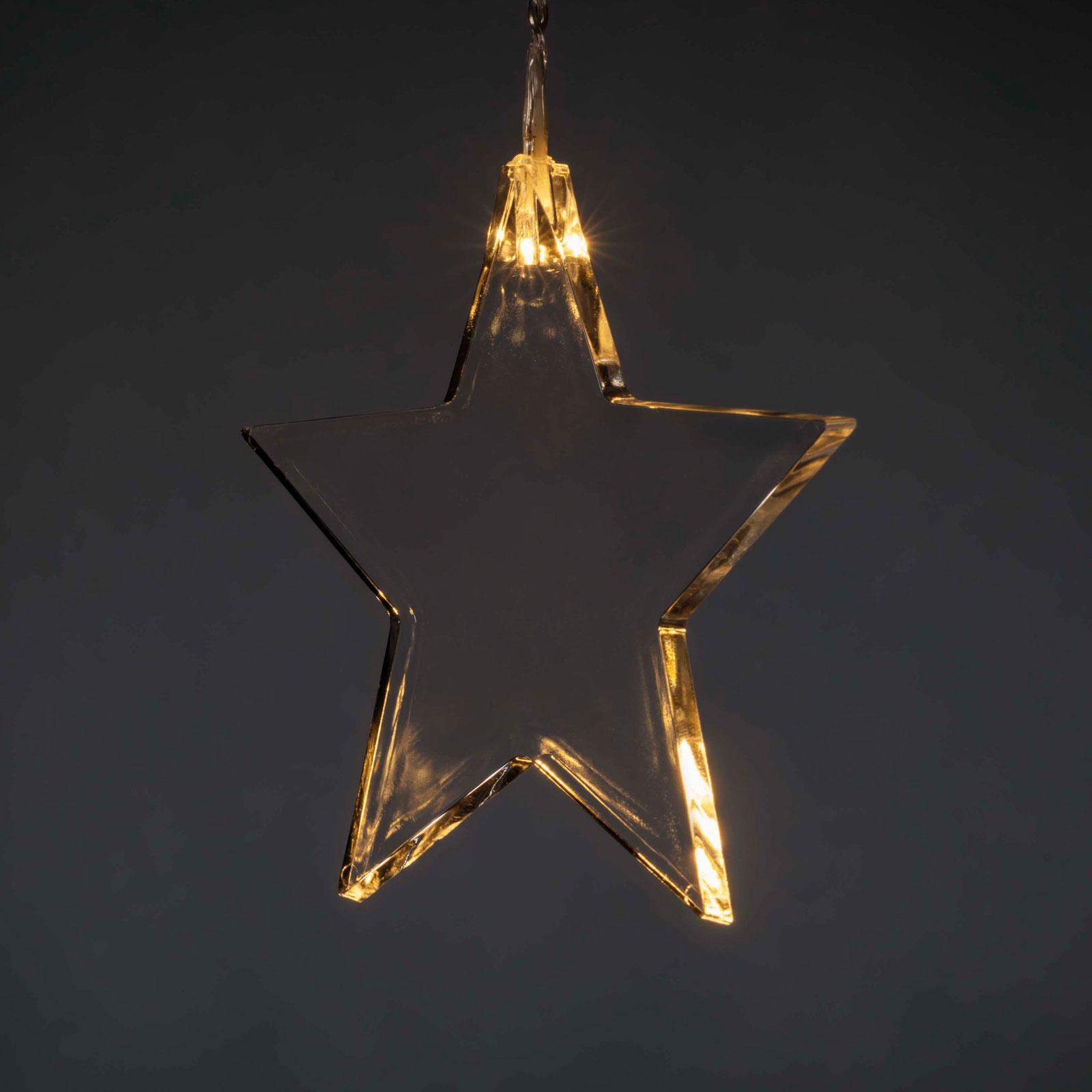 LED-draperi med åtta stjärnor för inomhusbruk