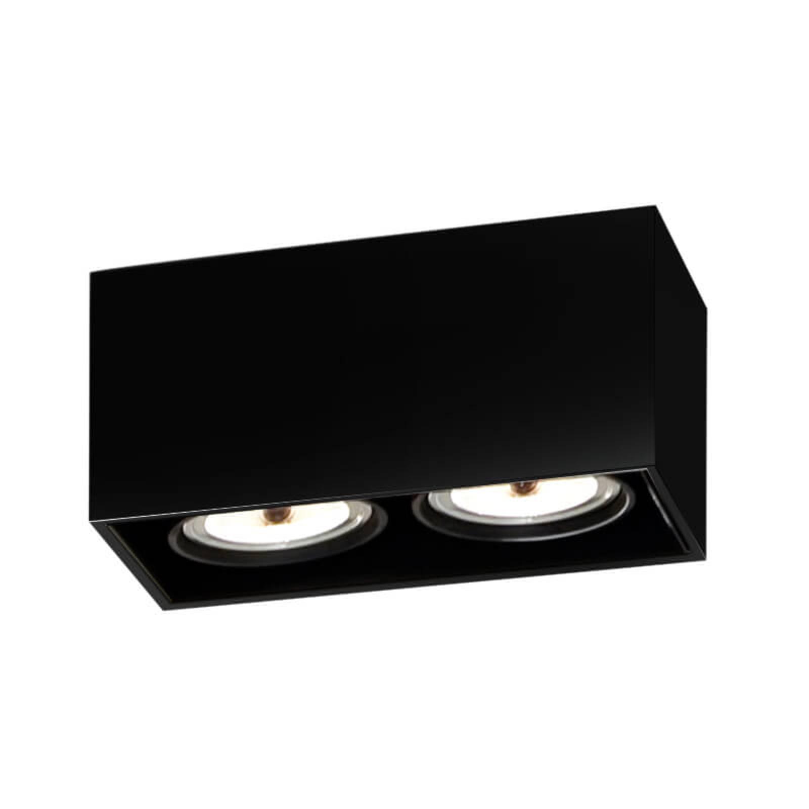 FLOS Compass Box H135 - Deckenleuchte 2flg schwarz