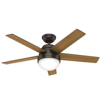 Hunter Stile ventilátor se světlem ořech/ořech