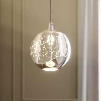 Lampa wisząca LED Hayley szklana kula 1-pkt. chrom