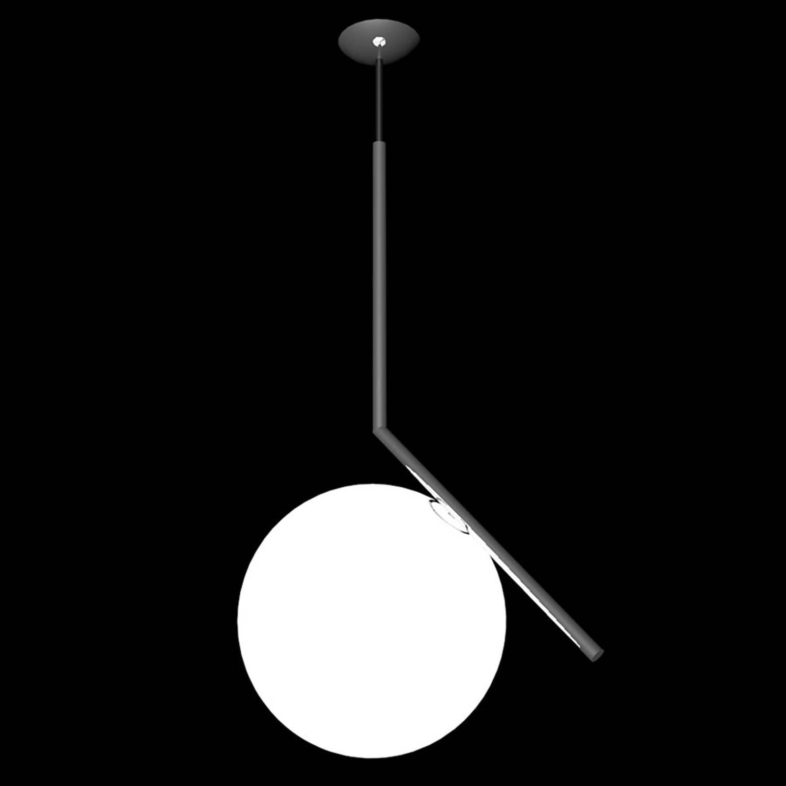 FLOS IC S2 Designer-Hängeleuchte, schwarz Ø 30 cm