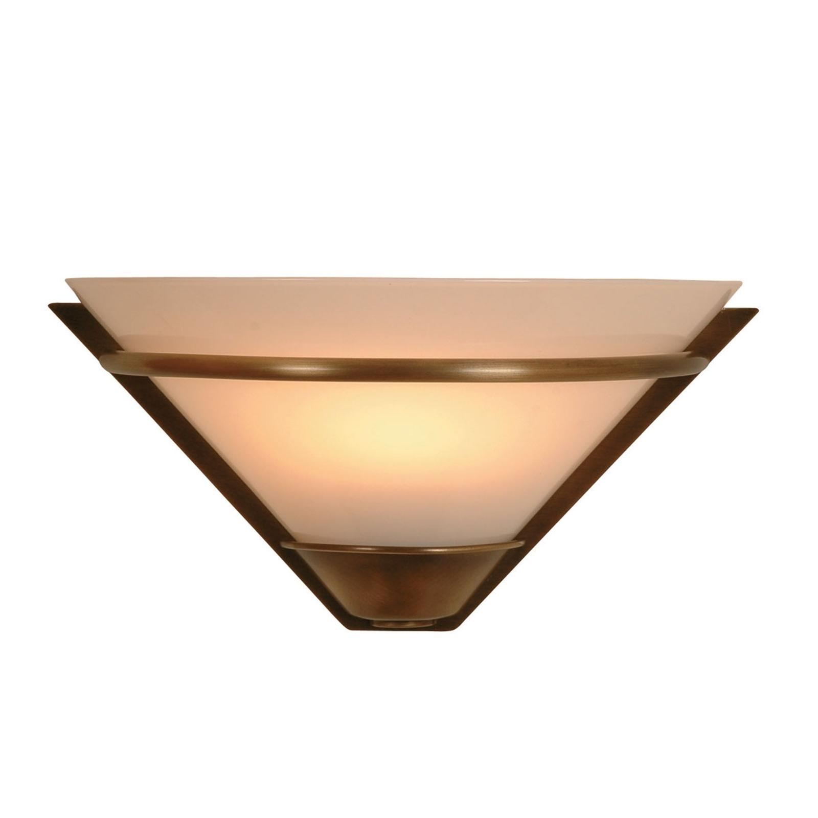Applique ANNO 1900 en verre opale et laiton bruni