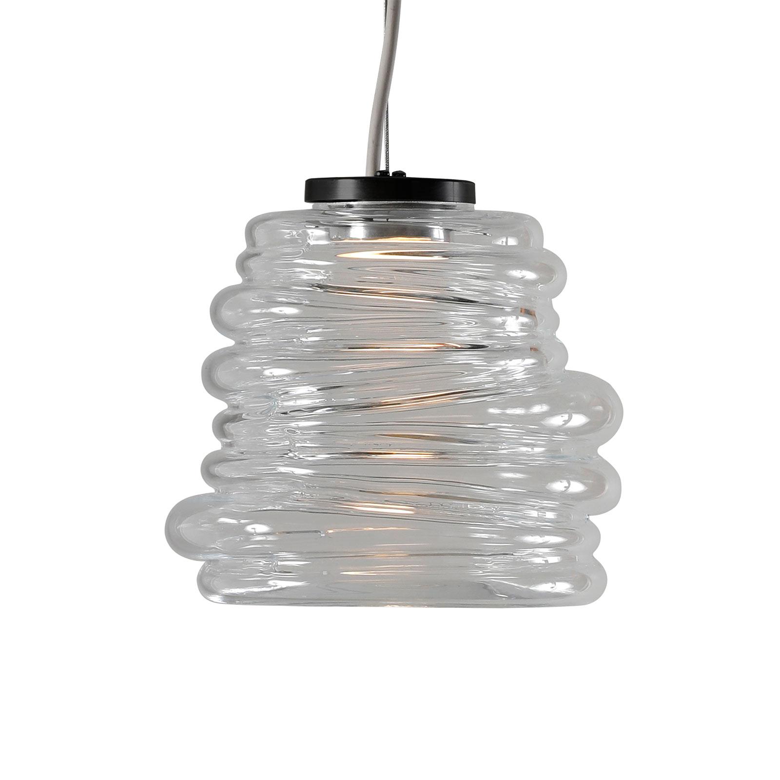 Karman Bibendum LED sospensione, Ø 15 cm, traspar.