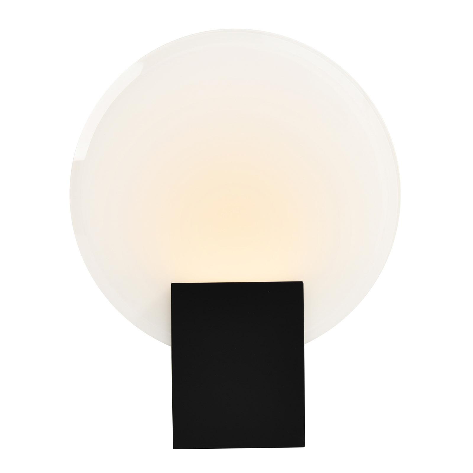 Hester LED-væglampe, IP44, sort