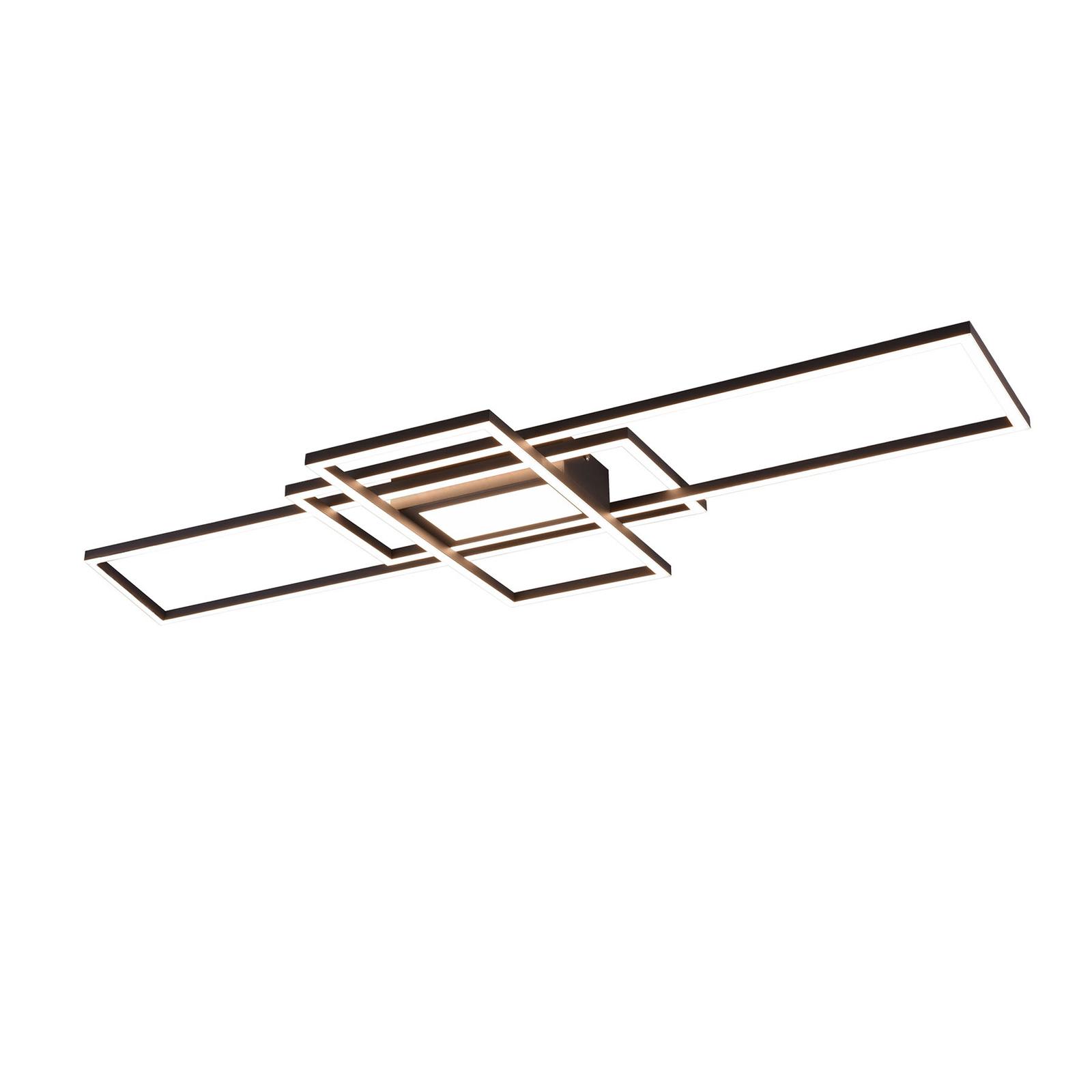 LED plafondlamp Irvine 3.000-6.500 K, antraciet