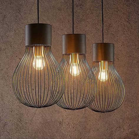 Lindby Miliano ijzeren hanglamp, zwart