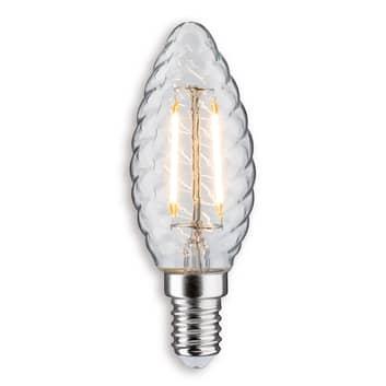 Ampoule flamme LED tournée E14 2,5W 827