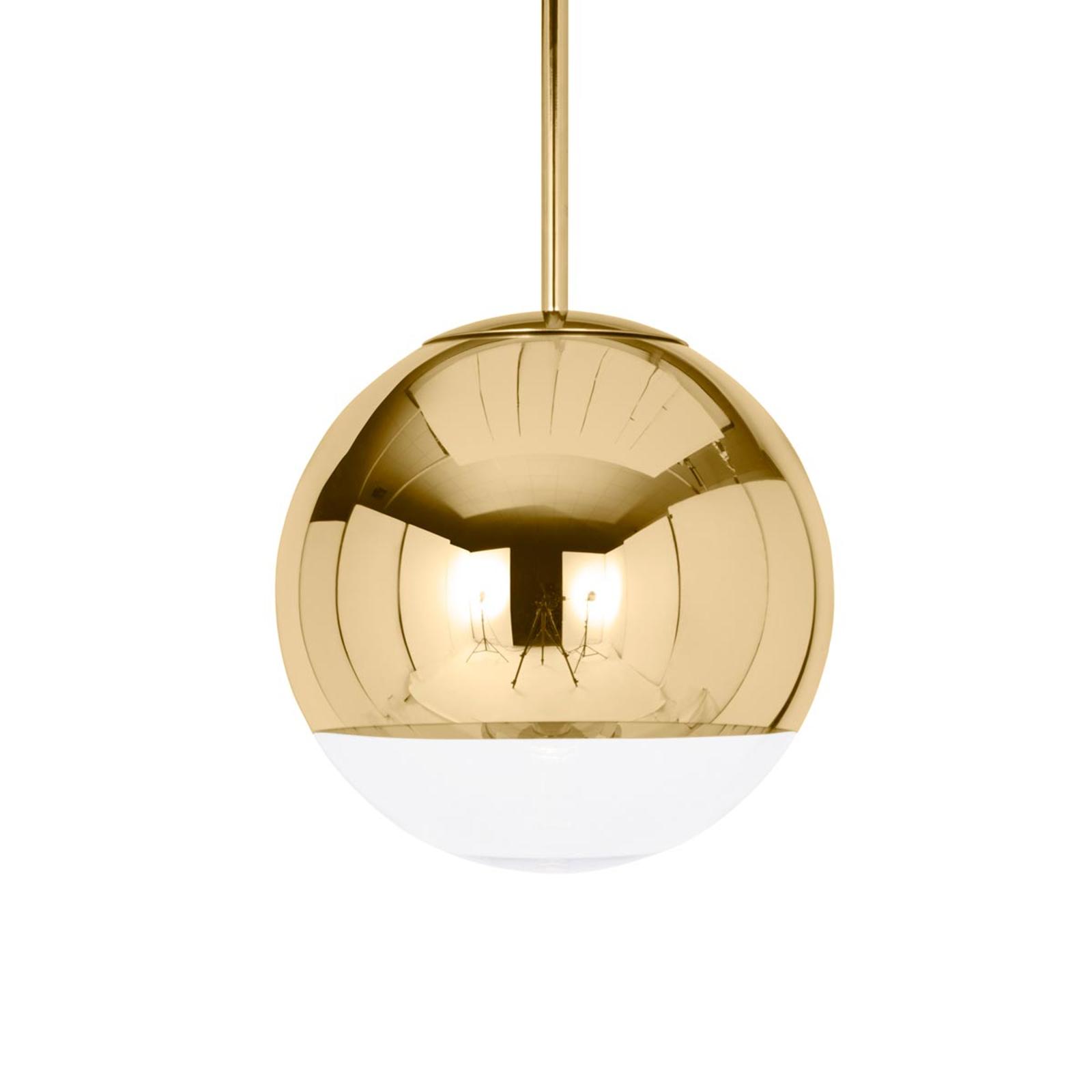 Blank gyllen pendellampe Mirror Ball 25 cm