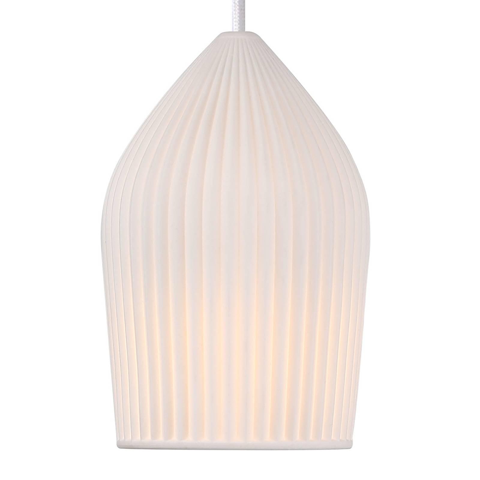 Biała ceramiczna lampa wisząca Reykjavik Ø 12 cm