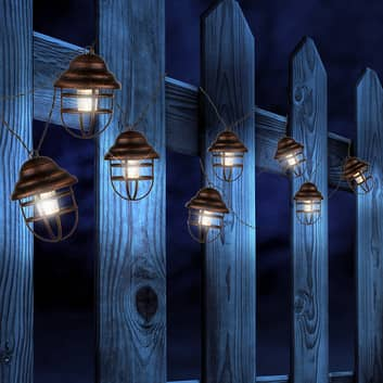 Cadena de luces solar Lina con 8 faroles