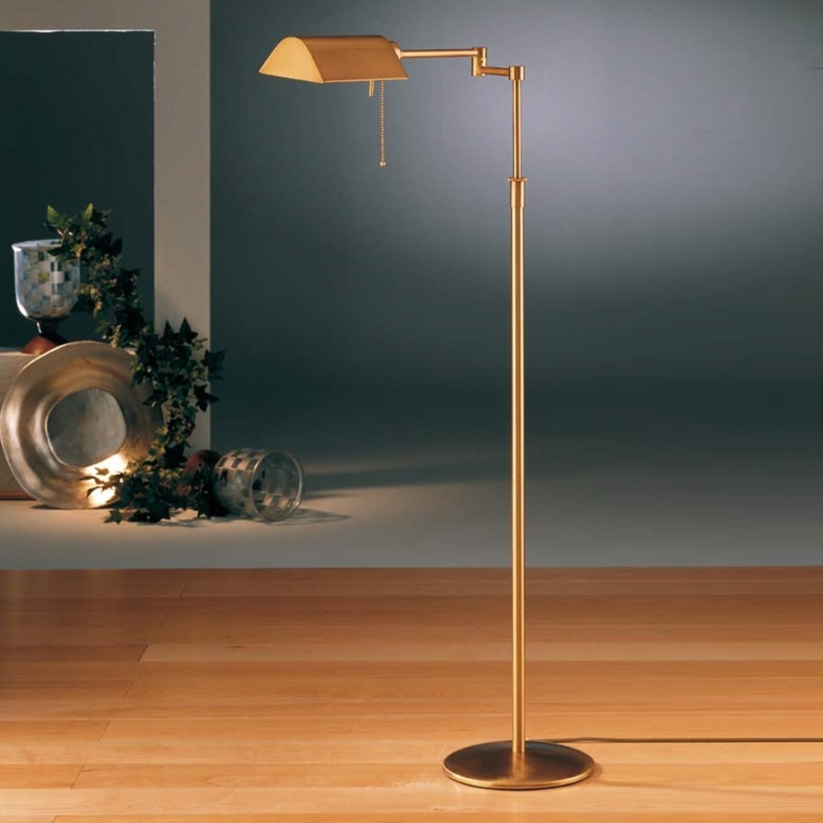 Energooszczędna lampa stojąca DUNIA, mosiądz