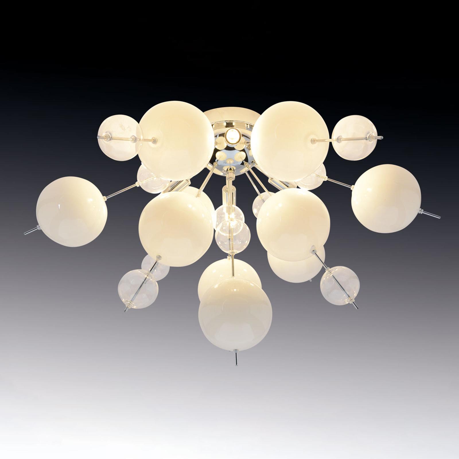 Plafondlamp Explosion in wit/chroom