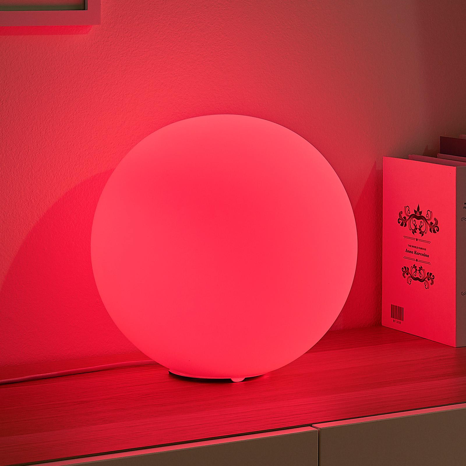 Lindby Smart LED-RGB-bordlampe Rhona, kule