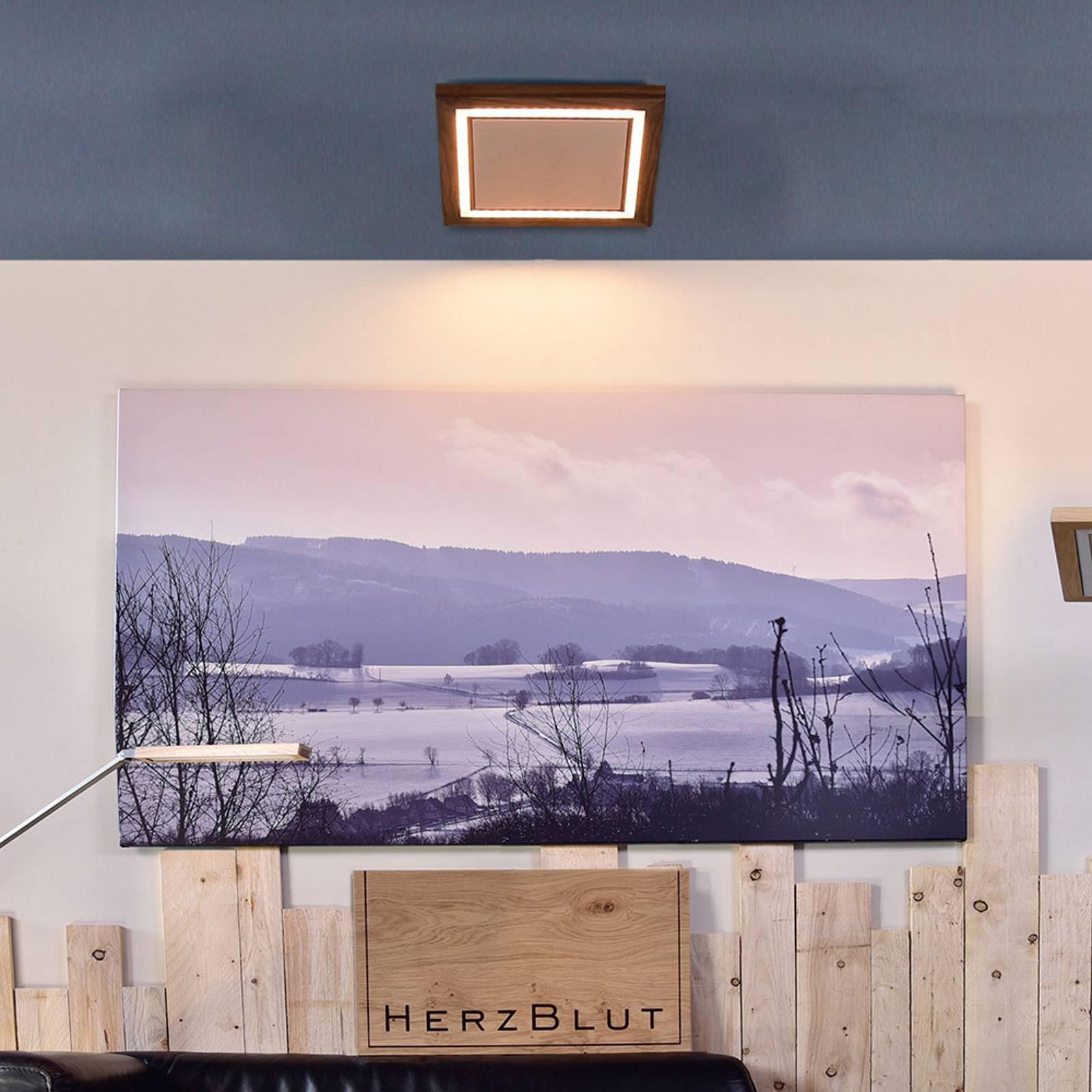 HerzBlut Otto O lampa sufitowa kwadrat orzech