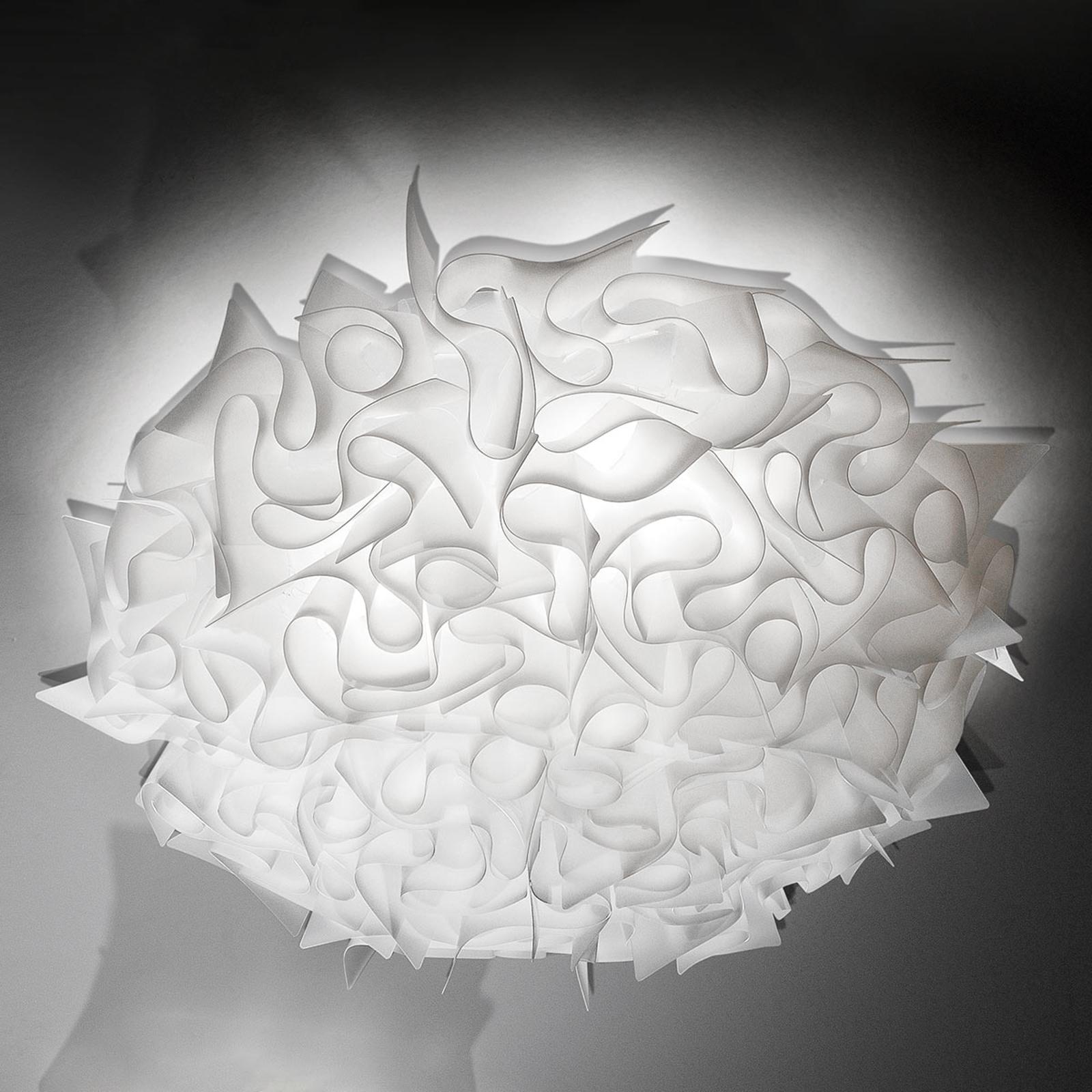 Slamp Veli – design-taklampe, Ø 78 cm, opal
