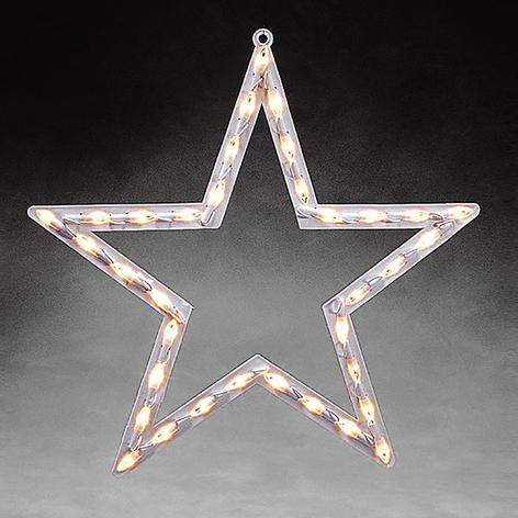 Stjerne vindussilhuett LED til innebruk varmhvit