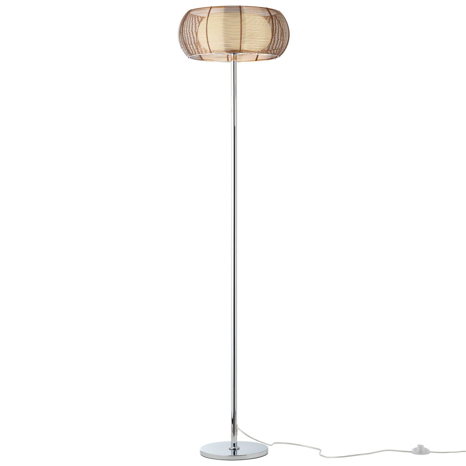 Vloerlamp Relax met edele metaal-kap