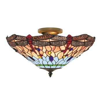 DRAGONFLY - loftlampe i Tiffany-stil