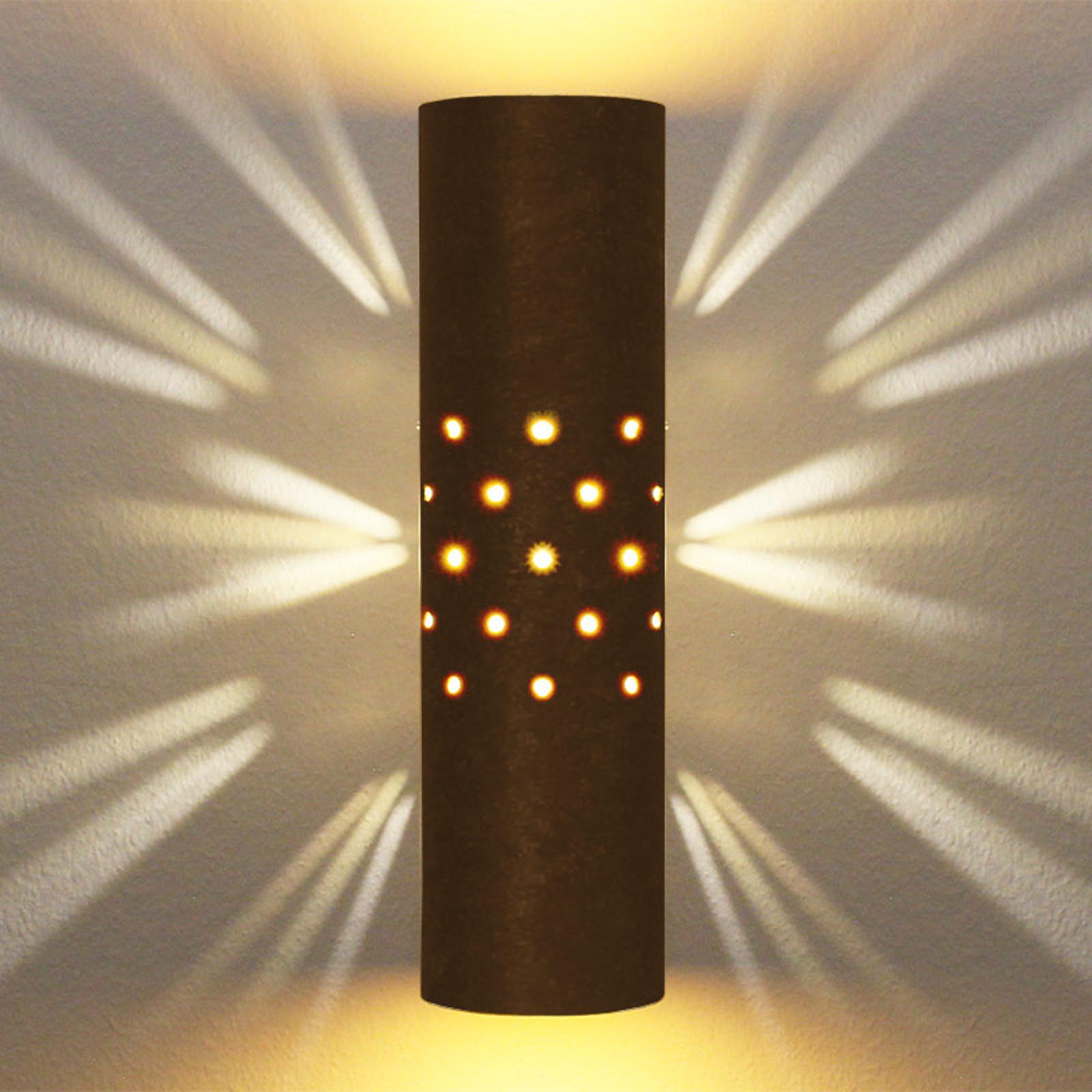 Menzel Solo wandlamp bruin-zwart