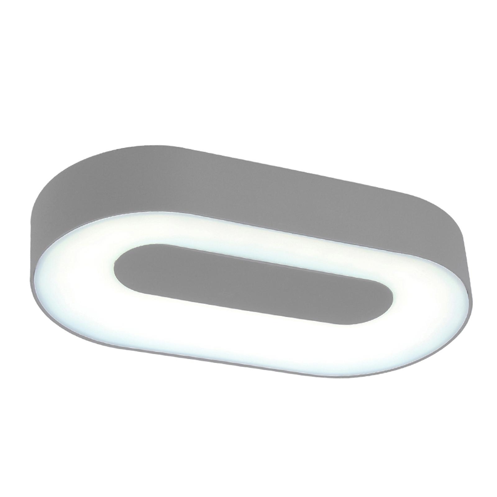 Oval LED-vägglampa Ublo för utomhusbruk