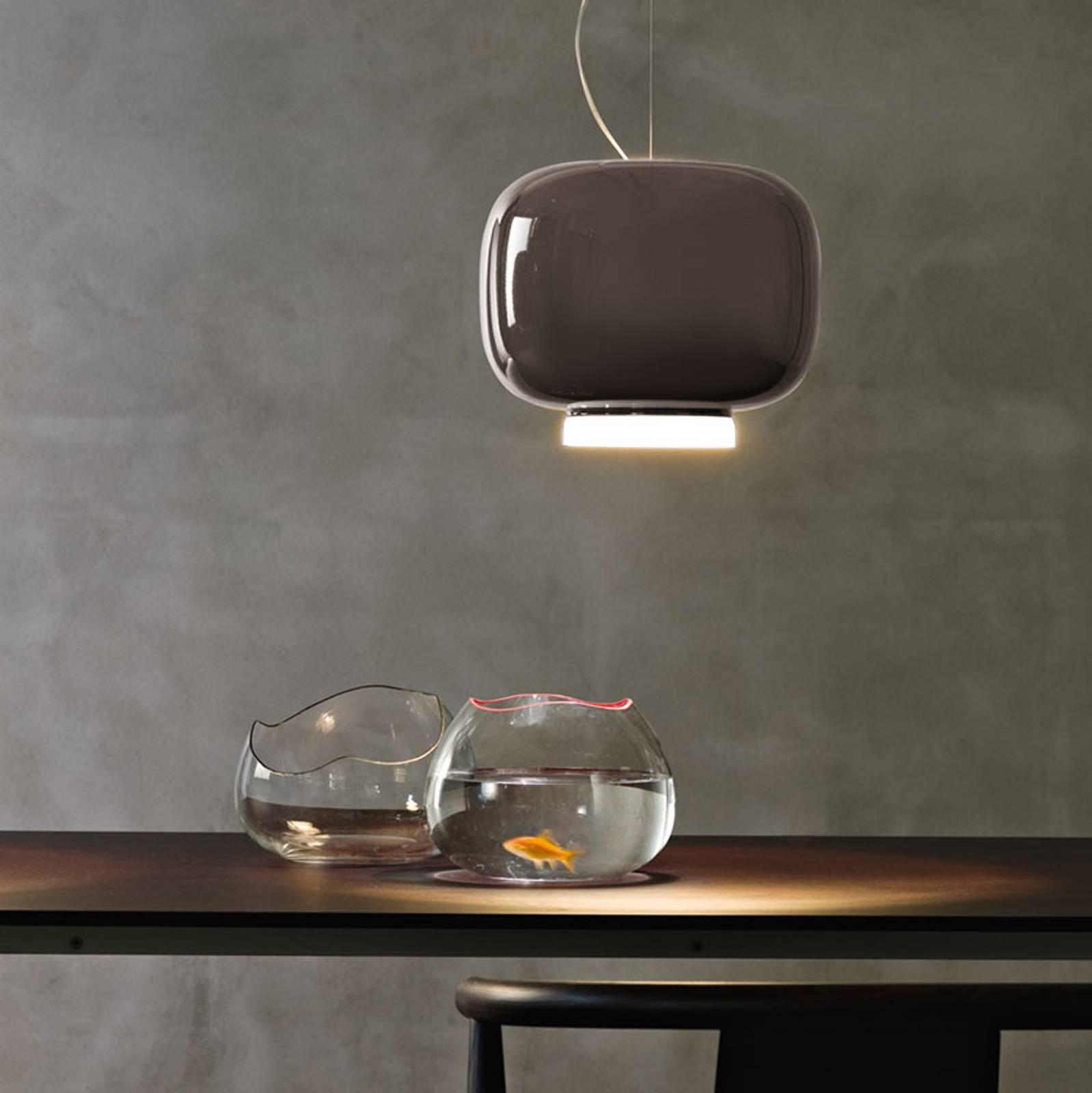 Foscarini Chouchin 3 LED-Hängeleuchte, grau