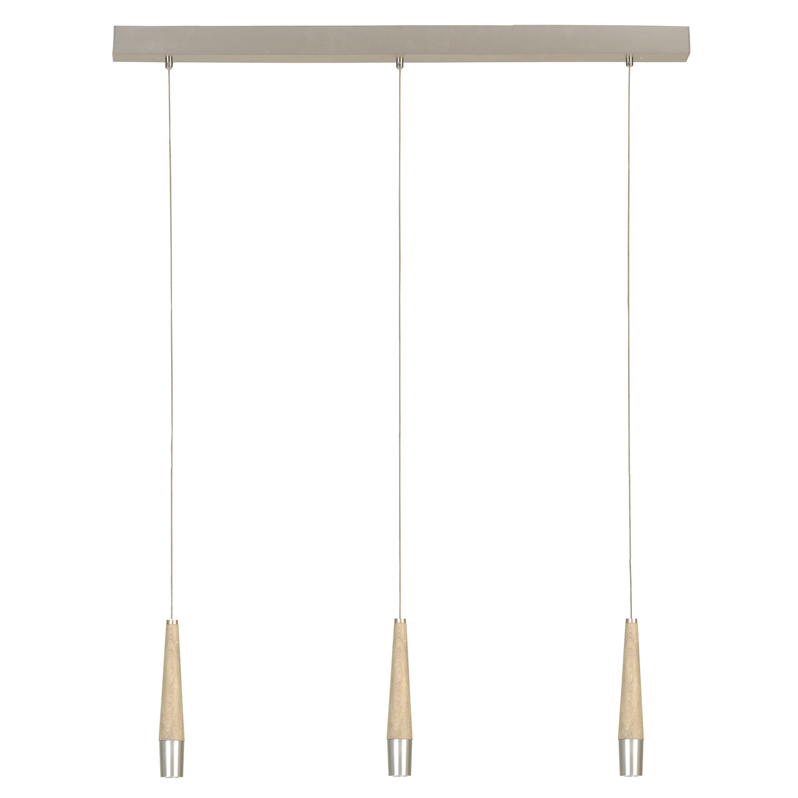HerzBlut Conico hængelampe natureg, 3 lyskilder