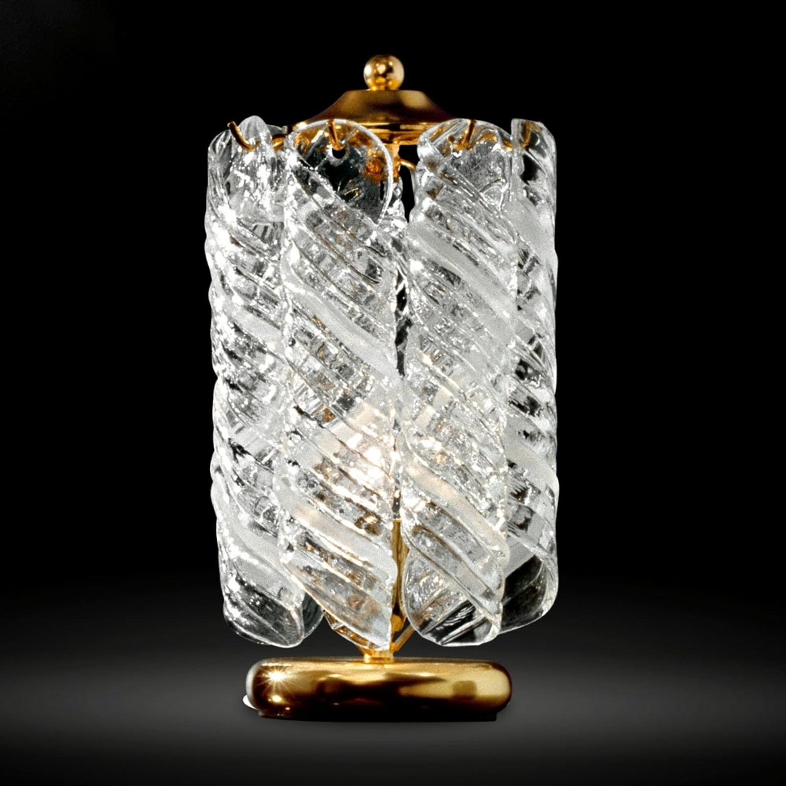 Lampka na stolik nocny Molle z 24-karatowym złoc.