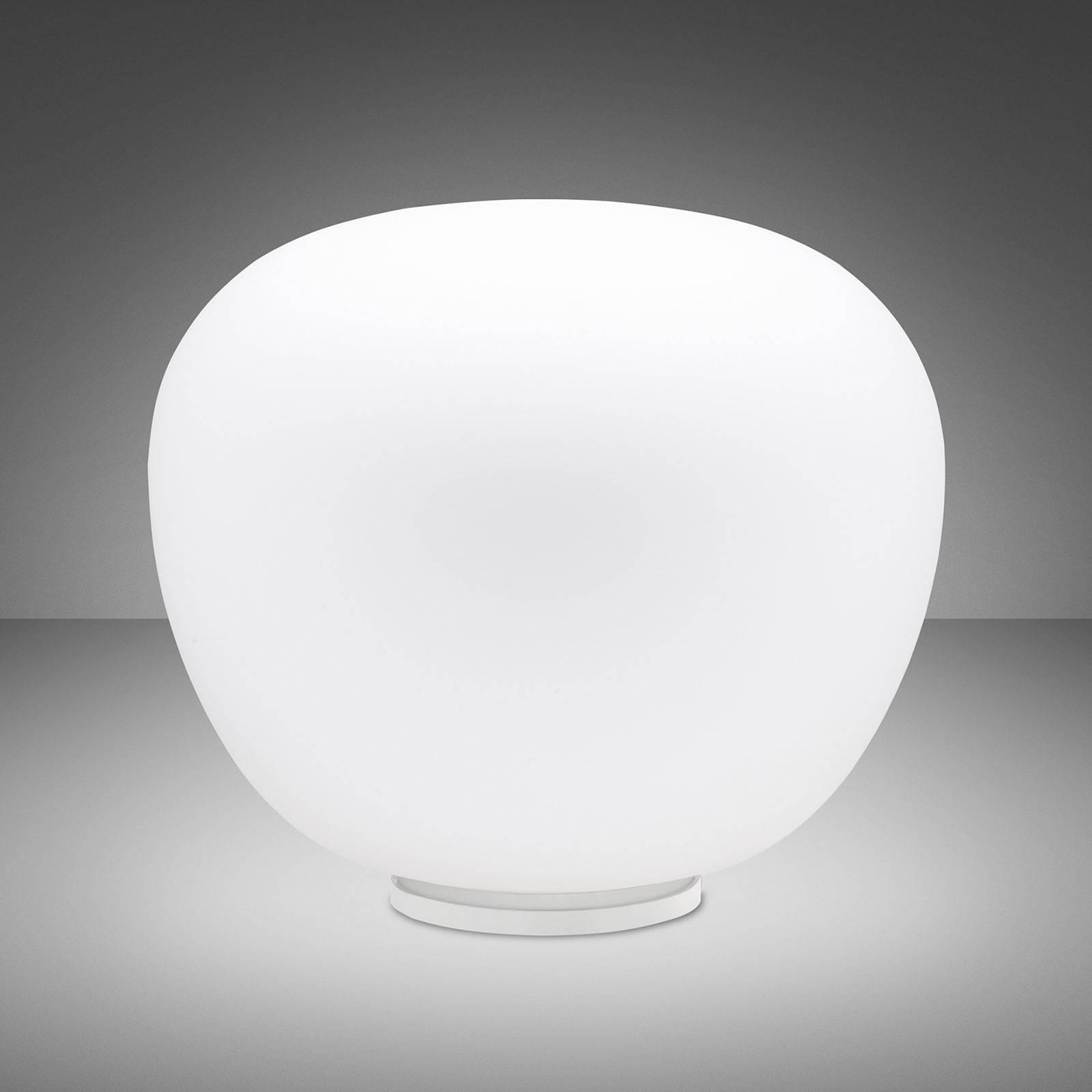 Fabbian Lumi Mochi tafellamp, liggend, Ø 45 cm