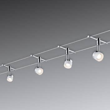 Med 4 runde lamper - LED-repsystem Stage