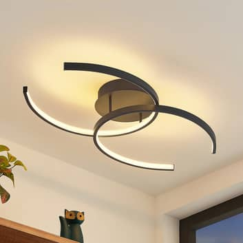 Lindby Cirlio plafón LED CCT, antracita