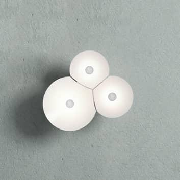 Luceplan Bulbullia LED-væglampe, 3 lyskilder