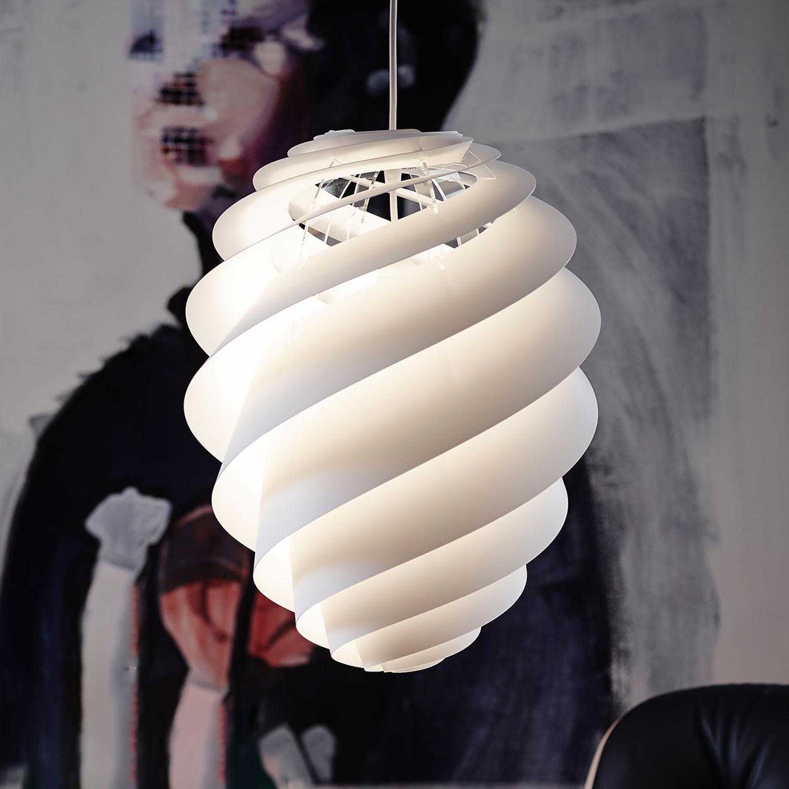 LE KLINT Swirl 2 Medium, weiße Hängeleuchte