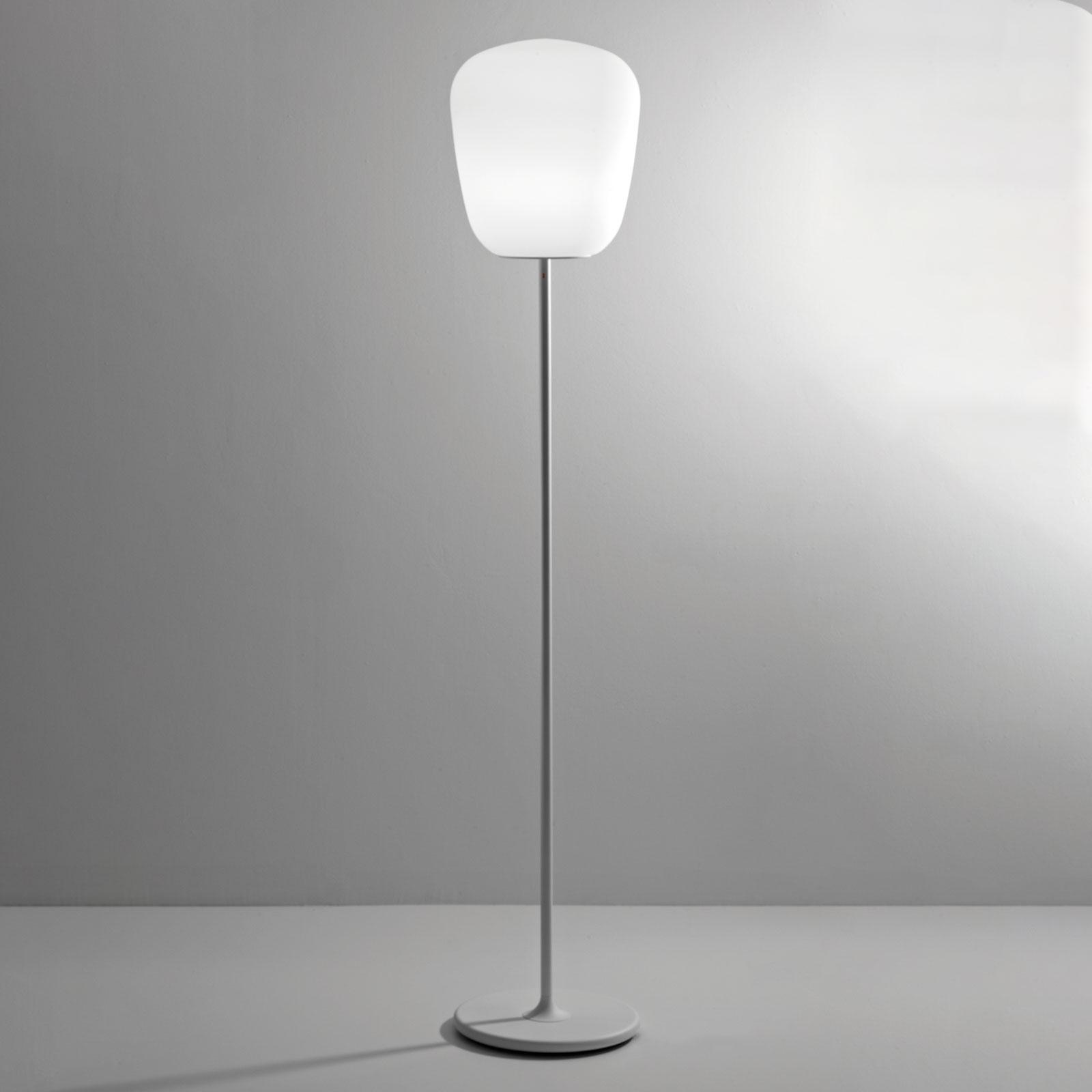 Fabbian Lumi Baka szklana lampa stojąca, Ø 33 cm