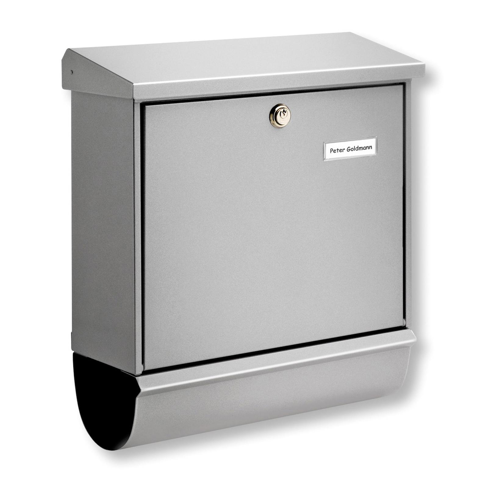 Buzón COMFORT-SET, compartimento periódico, plata