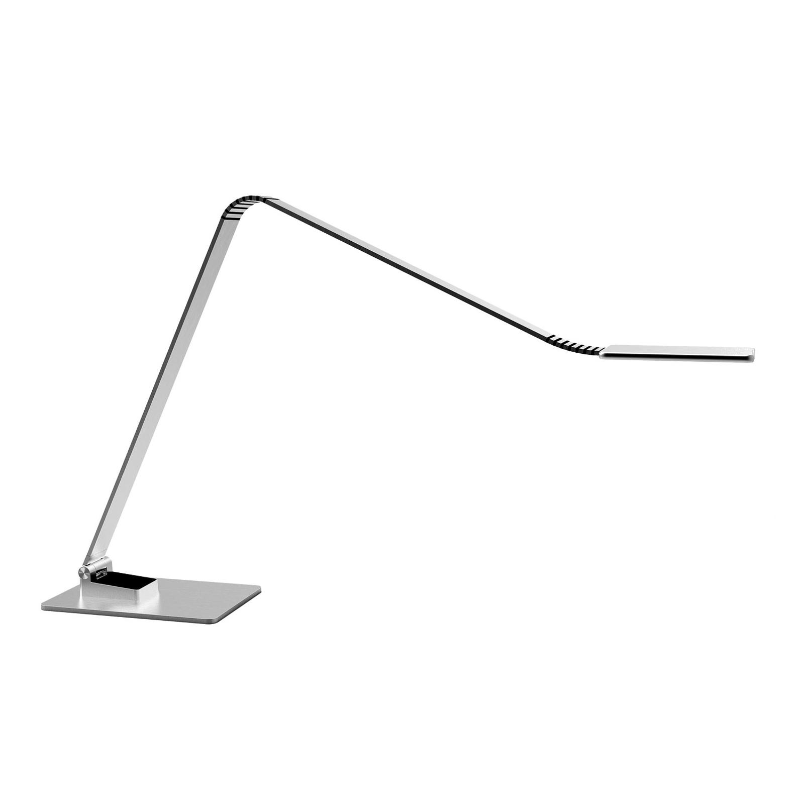 TRAE Muse 2 LED-Schreibtischleuchte, 4.000 K alu