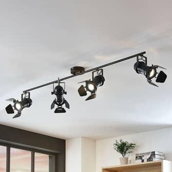 Spot da soffitto Tilen, 4 luci in look proiettore